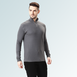 Mock Neck Tee- Slate Gray - Sporto