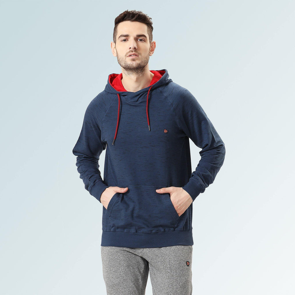 Hooded Sweatshirt -Navy - Sporto