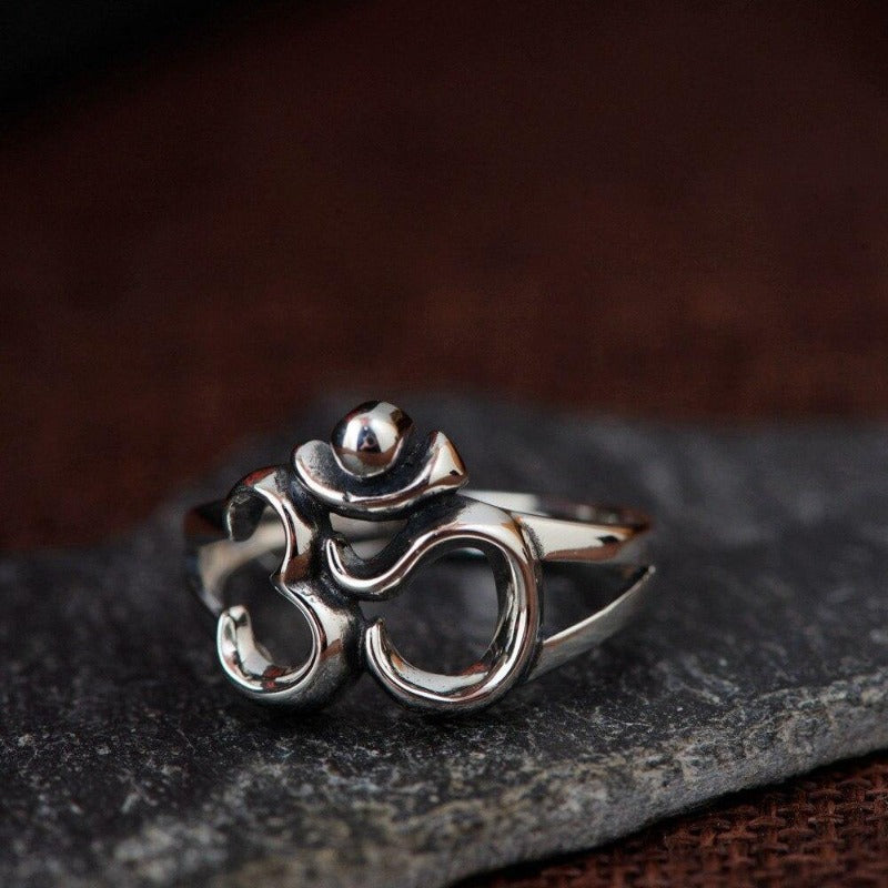 Buy OM women ring silver 925 on sale   Charm and Amulet