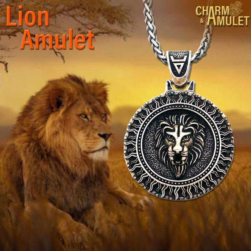 Buy Lion Amulet with chain Stainless | Charm and Amulet