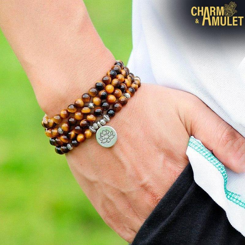 Buy Mala Tiger Eye on sale | Charm and Amulet