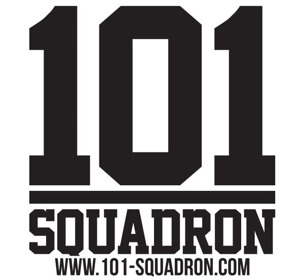 101 SQUADRON STICKER - BLACK