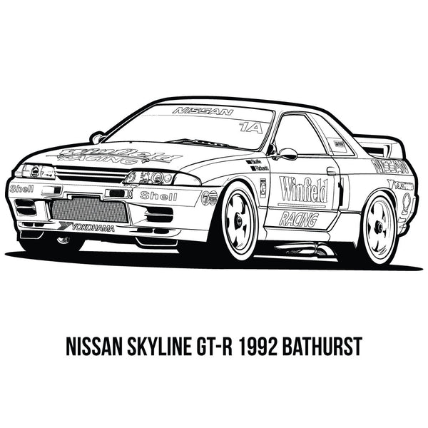 Jdm colouring book 101 squadron for Coloring pages nissan gtr