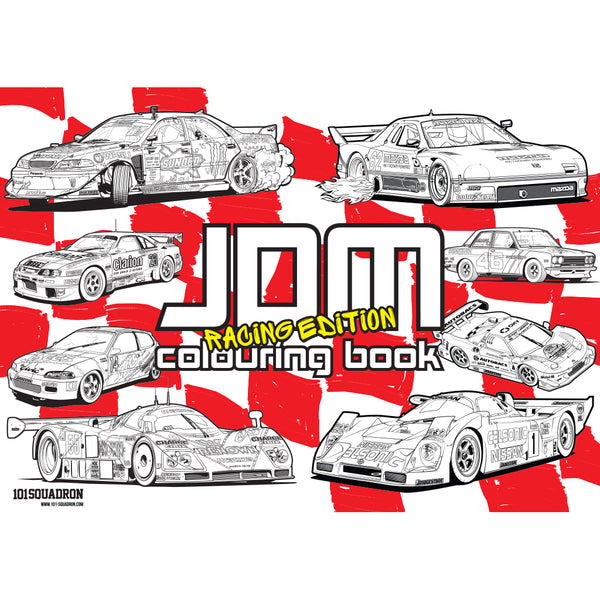 JDM COLOURING BOOK - RACING EDITION