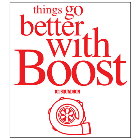 Things go better sticker