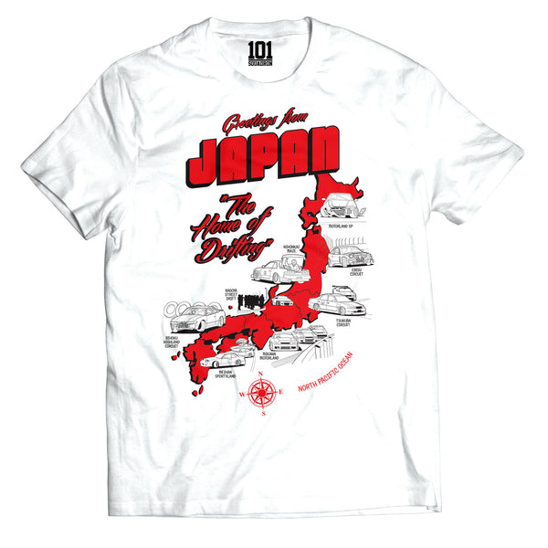 Greetings from Japan Tee - White