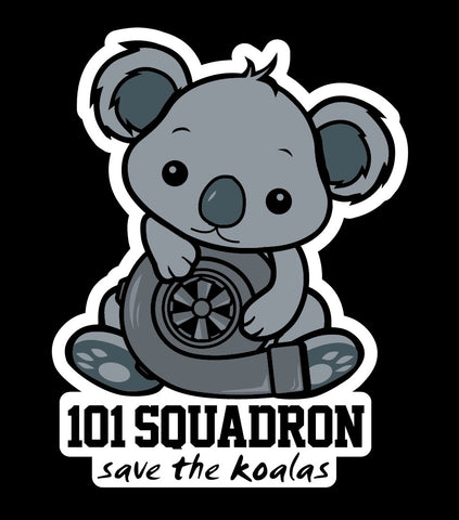 Koala Turbo diecut sticker