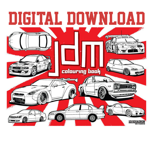JDM Colouring eBook - DIGITAL DOWNLOAD