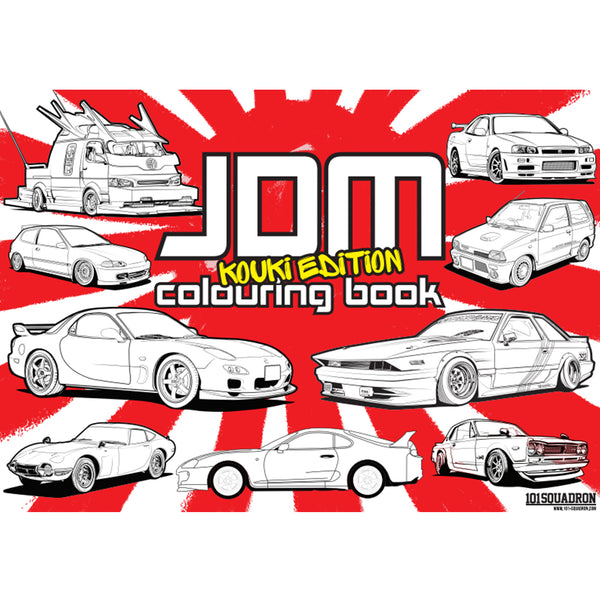 JDM Colouring book - Kouki Edition