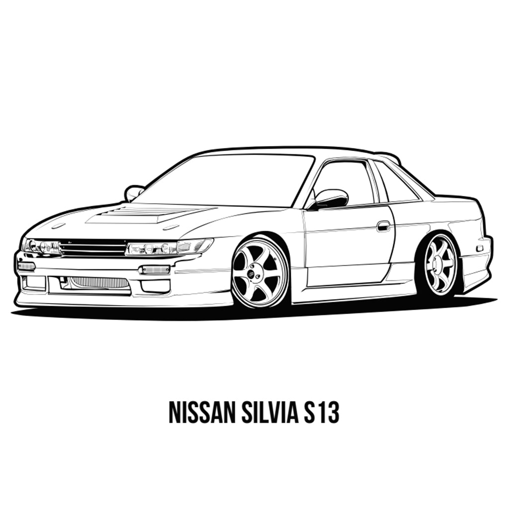 640 Car Tuning Coloring Book Free Images