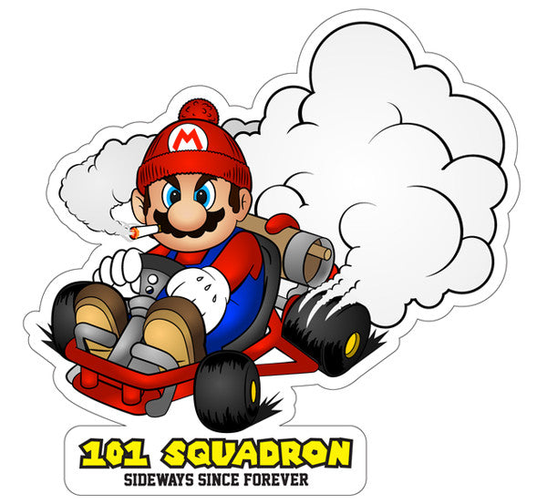 Sideways mario sticker