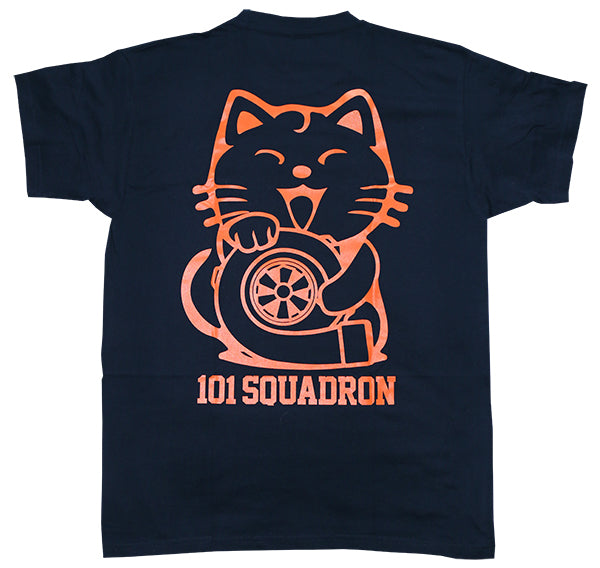 Maneki-neko Turbo shirt NAVY
