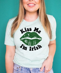 KISS ME I'M IRISH MINT TEE