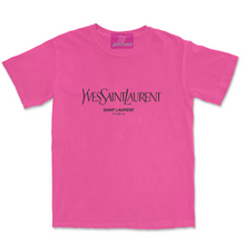 Load image into Gallery viewer, NEON PINK VINTAGE OVERSIZED YVES TEE