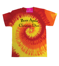 Load image into Gallery viewer, BORN AGAIN FIRE SWIRL TEE