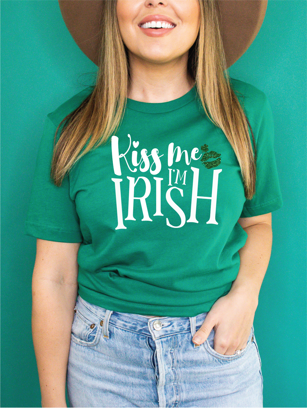 KISS ME I'M IRISH GREEN TEE