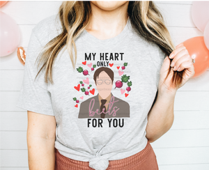 DWIGHT MY HEART BEETS FOR YOU TEE