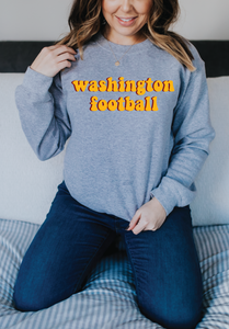 WASHINGTON FOOTBALL RETRO SWEATSHIRT