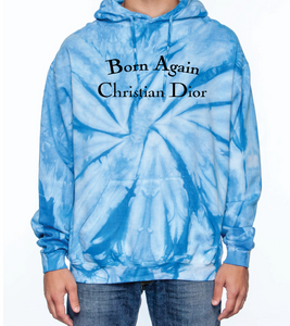 BORN AGAIN BABY BLUE HOODED SWEATSHIRT