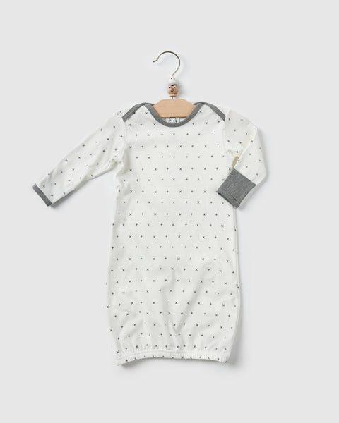 notte night gown | white print