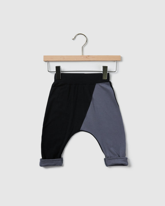 edison harem pants | black/cool grey