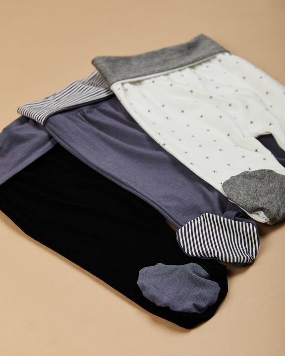shade footed pants| cool grey/ cool grey stripes