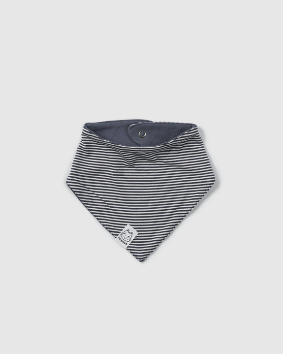 bava bib bandana | grey stripes/cool grey