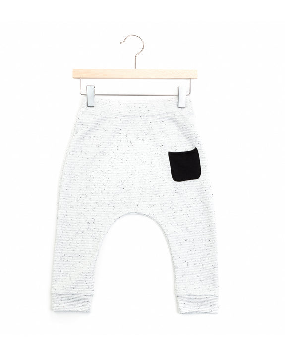 ace harem pants | snow/black