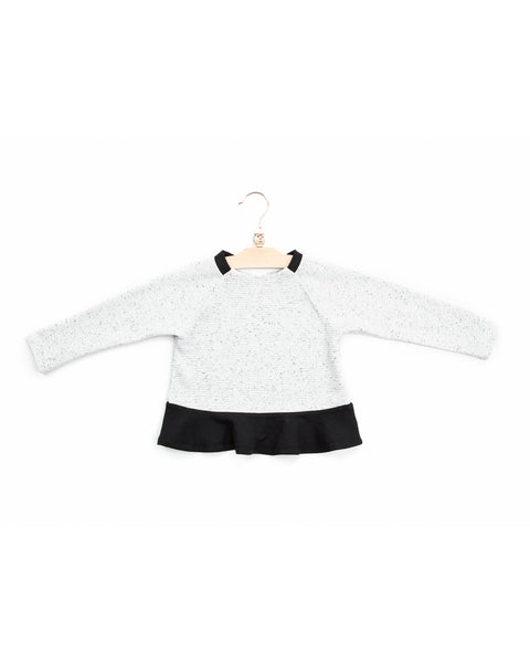 allegra crop top | snow/black