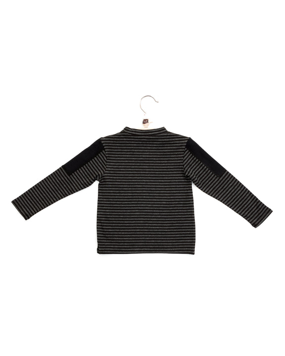 brooklyn tee | charcoal stripes