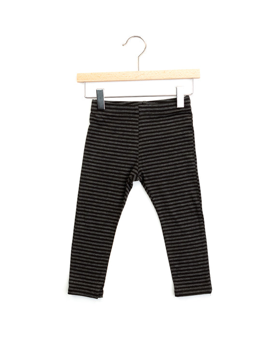 mela leggings | charcoal stripes