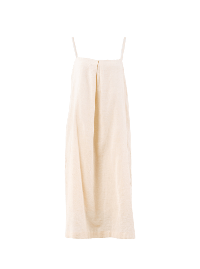 Annaise Ivory Cotton Tank Dress