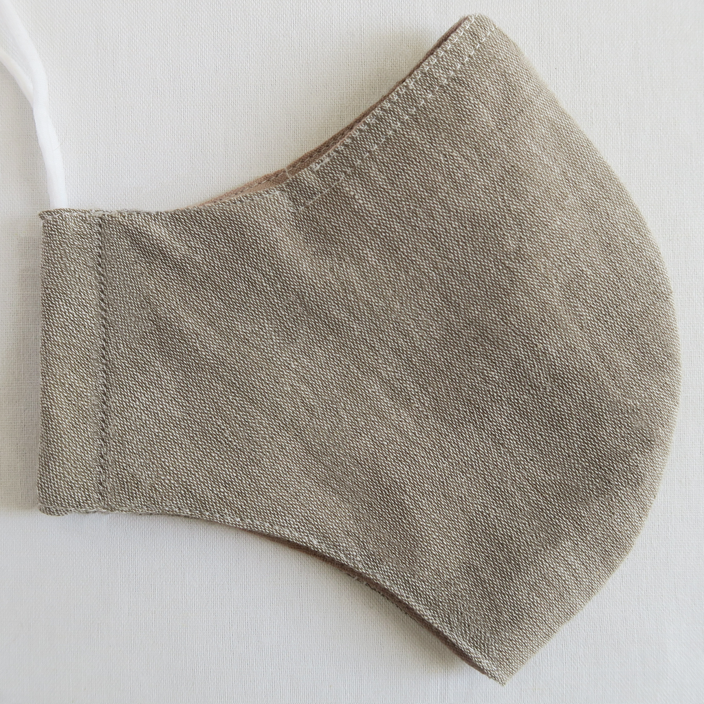 "ថ ""Tha"" Naturally Dyed Solid Gray Unisex Cotton Mask"