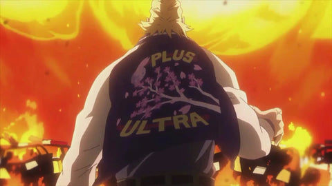 Two Heroes All Might Varsity Jacket Plus Ultra My Hero Academia LARGE SIZE