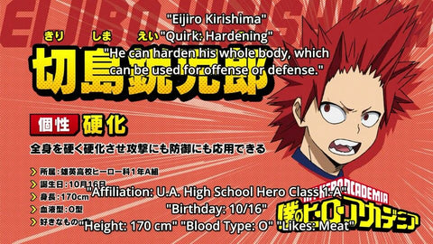 eijirou kirishima height