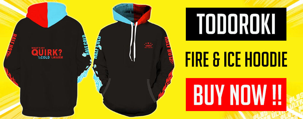 todoroki fire and ice hoodie
