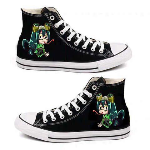 BNHA Shoes Tsuyu Asui (Black)
