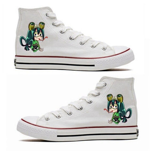 BNHA Shoes Tsuyu Asui (White)