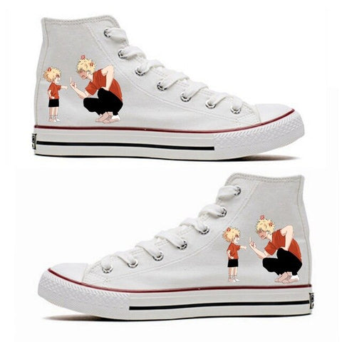 BNHA Shoes Bakugo Parents (White)