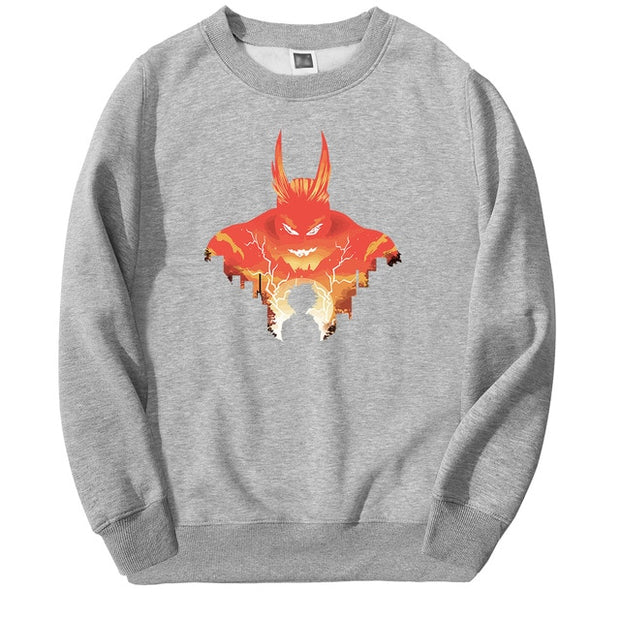 all might grey sweatshirt