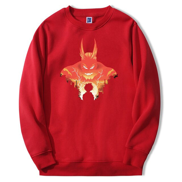 all might red sweatshirt