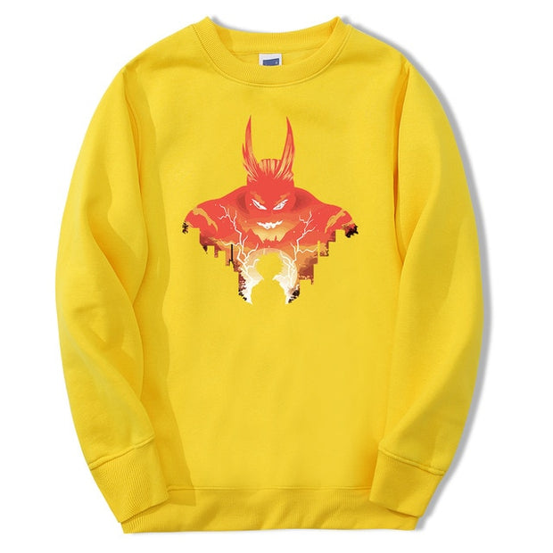 all might yellow sweatshirt