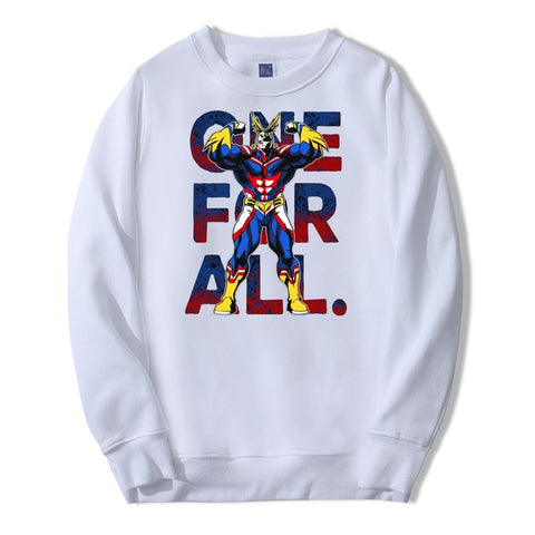 my hero academia one for all sweatshirt