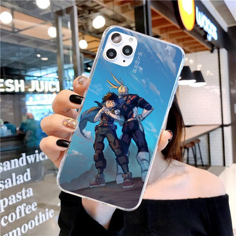 My Hero Academia iPhone Case Izuku and All Might