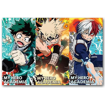 my hero academia poster art
