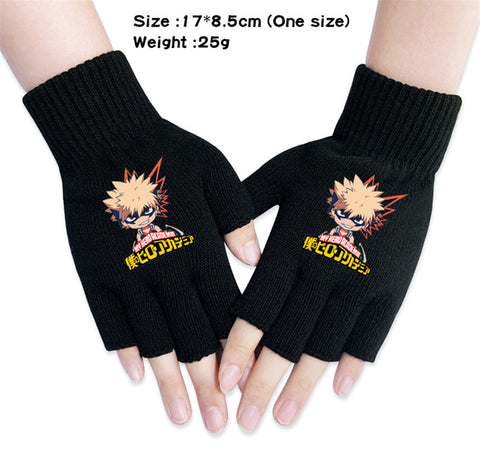 bakugou fingerless gloves