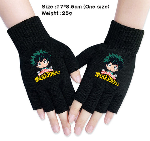 deku fingerless gloves