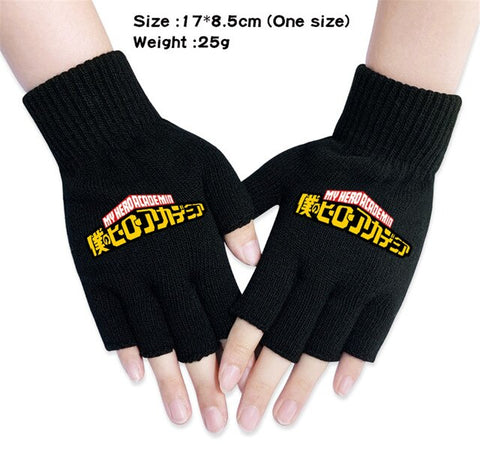 my hero academia fingerless gloves
