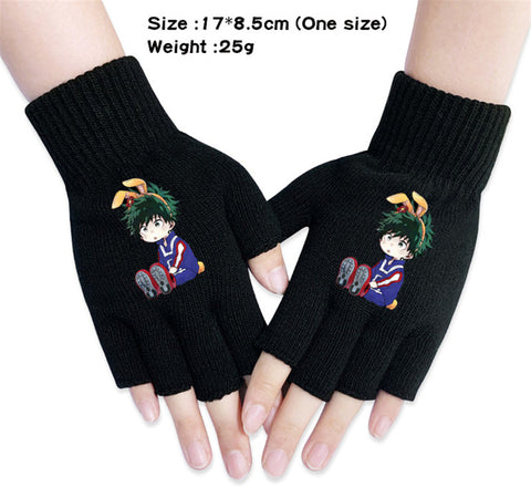 mha fingerless gloves
