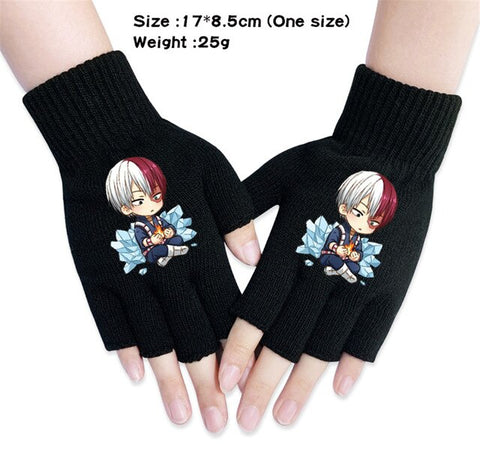 shoto todoroki fingerless gloves
